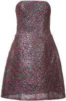 Monique Lhuillier sequin strapless dress - women - Silk/Nylon/Sequin - 2