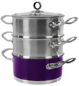 Morphy Richards Accents 3 Tier Steamer, 18 cm - Purple