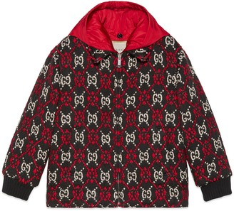 Gucci Children's GG diamond bomber jacket
