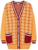 Miu Miu Oversized checked wool cardigan