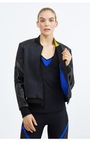 Prabal Gurung Sport Colorblock Neoprene Bomber Jacket