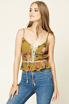 Forever 21 FOREVER 21+ Floral Lace-Up Cami