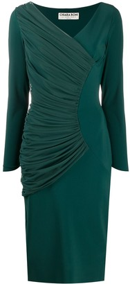 Le Petite Robe Di Chiara Boni Waleska Illusion ruched midi dress