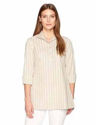 Foxcroft Women's Dani Wide Stripe Non Iron Tunic