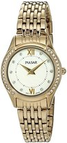 Pulsar Women's Quartz Brass and Stainless Steel Dress Watch, Color:Gold-Toned (Model: PM2236)