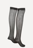 Bebe Pointelle Thigh High Socks