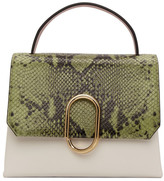 3.1 Phillip Lim Green Python Mini Alix Top Handle Bag