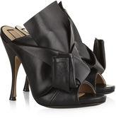No.21 Black Bow Mule Stilettos