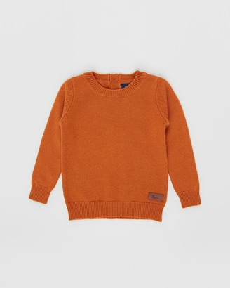 Pappe - Orange Jumpers - Tucker Scottish Cashmere Sweater - Babies-Kids - Size One Size at The Iconic