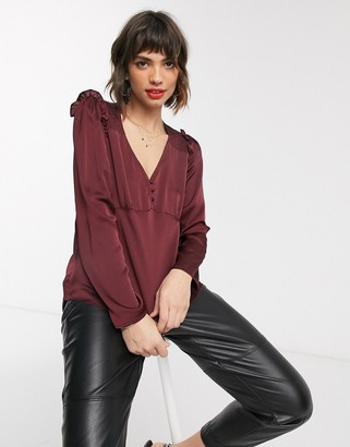 Vero Moda button front blouse