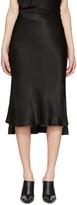 Protagonist Black Bias Cut Slip Skirt