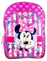 """Disney 16"""" 3D Molded Kids Backpack - Minnie Mouse"""