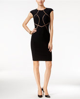 INC International Concepts Petite Mesh-Inset Sheath Dress, Only at Macy's