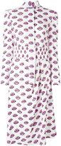 Prada lip print shirt dress