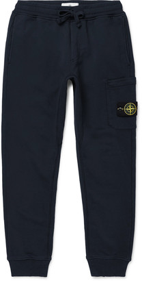 Stone Island Slim-Fit Tapered Fleece-Back Cotton-Jersey Sweatpants