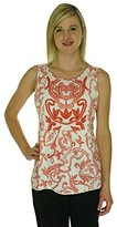 Lucky Brand Women's Red Floral Top