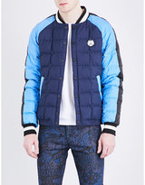Kenzo Colour-block Quilted Bomber Jacket