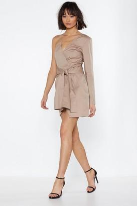 Nasty Gal Womens Kinda Into It One Shoulder Dress - beige - 12