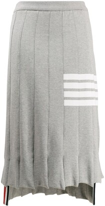 Thom Browne 4-Bar stripe pleated skirt