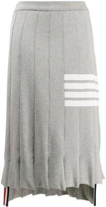 Thom Browne 4-Bart trompe l'oeil skirt