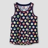 Cat & Jack Girls' Tank Top Cat & Jack - Navy Dot Print