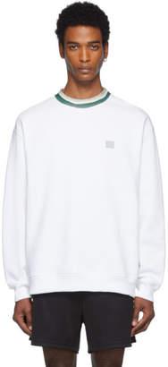 Acne Studios White Folsom Face Sweatshirt