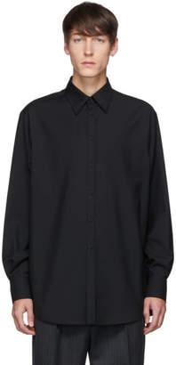 Valentino Black Wool Semiover Fit Shirt