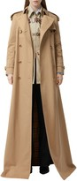 Burberry Check Lined Maxi Trench Coat
