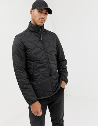 G Star G-Star Edla ripstop quilted jacket in black