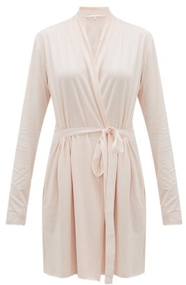 Skin - Double Layer Cotton Wrap Robe - Womens - Light Pink