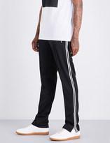 Maison Margiela Contrast-trim relaxed-fit mid-rise cotton-jersey jogging bottoms