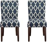 HomePop Geometric Parson Chair 2-piece Set