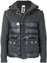 Bark padded waffle knit jacket