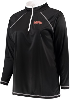 Majestic Women's Black Arizona Diamondbacks Plus Size Quarter-Zip Pullover Jacket