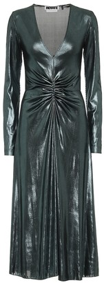 Rotate by Birger Christensen Metallic stretch midi dress