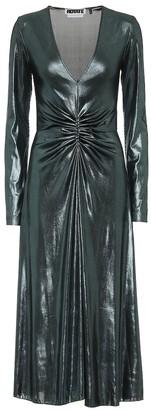 Rotate by Birger Christensen Metallic stretch midi dress