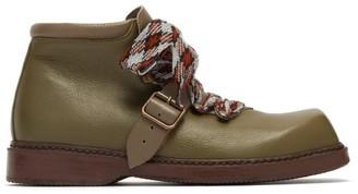 Preen by Thornton Bregazzi Zen Square-toe Leather Boots - Khaki