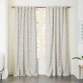 west elm Star Flocked Curtain - Ivory