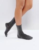 Warehouse Glitter Ankle Socks