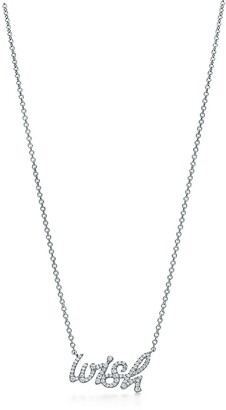 Tiffany & Co. Paloma's Graffiti wish pendant in 18k white gold with diamonds