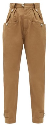 Etoile Isabel Marant Pulcie High-rise Cotton Trousers - Beige