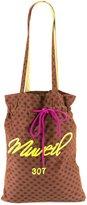 Muveil drawstring lips print tote bag - women - Cupro - One Size