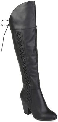 Journee Collection Spritzs Over-the-Knee Lace-Up Boot