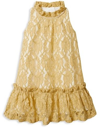 Janie and Jack Baby's, Little Girl's & Girl's Goldtone Lace Dress