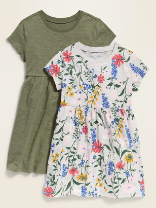 Old Navy Jersey-Knit Fit & Flare Dress 2-Pack for Toddler Girls