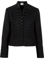 Vilshenko Dina Embroidered Wool-felt Jacket - Black