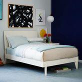 west elm Angled-Leg Bed - White