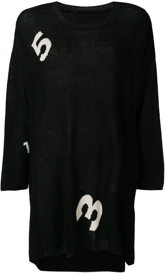 Yohji Yamamoto numbers pullover jumper