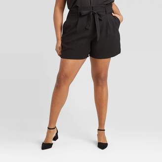 A New Day Women's Plus Size High-Rise Paperbag Shorts