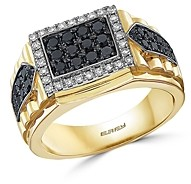 Bloomingdale's Men's Black & White Diamond Ring in 14K White & Yellow Gold - 100% Exclusive